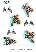 Motorcycle Race Design Printed 100% Cotton Quilting Fabric