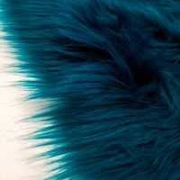 """Teal 60"""" Wide 1-2'' Long Pile Luxury Shag Fur by the Yard"""