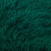 Light Teal Mongolian Sheep Wool 2-3 Inches Long Pile Faux Fur Fabric by the Yard