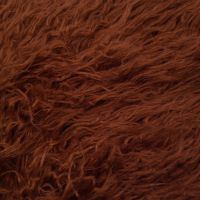 Red Brown Mongolian Sheep Wool 2-3 Inches Long Pile Faux Fur Fabric by the Yard