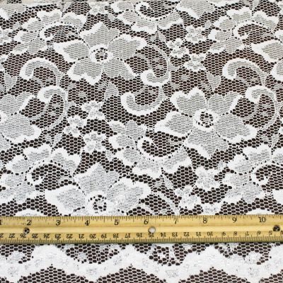 4 inches wide poly or nylon Flat Lace Trim Rose pattern