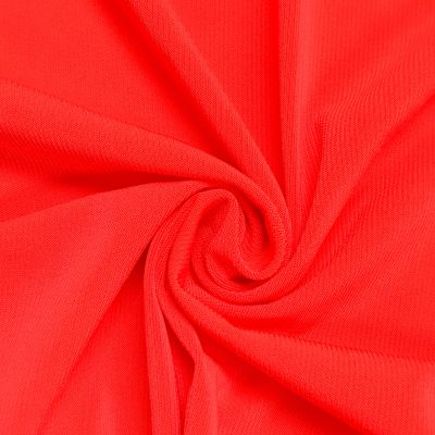 Hot Coral Neon Ity Stretch Jersey Knit Fabric Twist Yarns Ity 200 Gsm