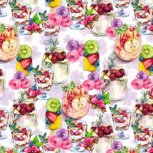 Parfait and Pinot Grigio Design 100% Cotton Quilting Fabric by the Yard