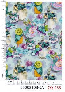 Parfait and Pinot Grigio2 Design 100% Cotton Quilting Fabric by the Yard