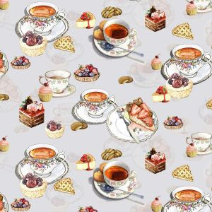 Fruit Tart and Cake Design 100% Cotton Quilting Fabric by the Yard