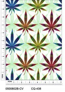 Pshycadelic Canabis Design 100% Cotton Quilting Fabric by the Yard