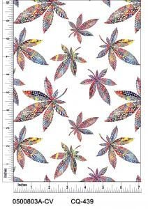 Tie Dye Canabis Light Printed on 100% Cotton Quilting Fabric by the Yard