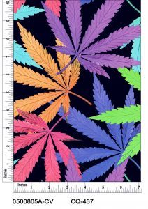 Canabis Leaves Pastel Design 100% Cotton Quilting Fabric by the yard
