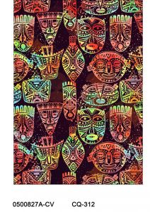 Painted Masks Design Printed on 100% Cotton Quilting Fabric by the Yard