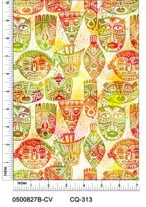 Painted masks (light) Design Printed on 100% Cotton Quilting Fabric by the Yard
