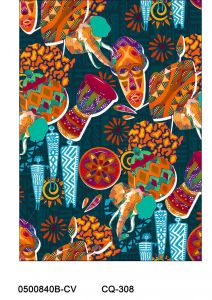 Masks Design Printed on 100% Cotton Quilting Fabric by the Yard