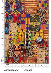Patches Design Printed on 100% Cotton Quilting Fabric by the Yard