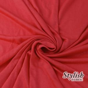 Bright Red 100% Rayon Jersey Fabric