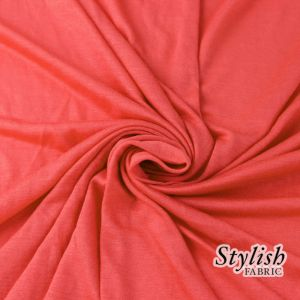 Coral Chic 100% Rayon Jersey Fabric