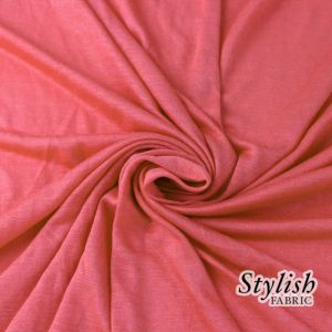 Coral 100% Rayon Jersey Fabric