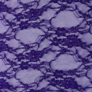 62'' Wide Giselle Stretch Lace Floral Purple Fabric By The Yard