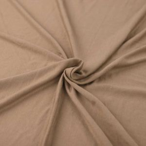 Taupe Light-weight Rayon Spandex Jersey Knit Fabric - 160 GSM
