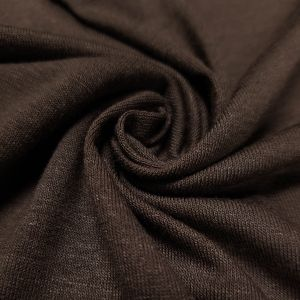 Smokey Brown Viscose Spandex Fabric