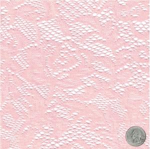 Cotton Candy Botanical Pattern Crochet Lace Fabric