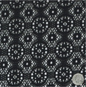 SALE! ONE TIME OFFER ONLY! 3 YARDS Ultra Soft Black Treasure Pattern Brushed Crochet Fabric