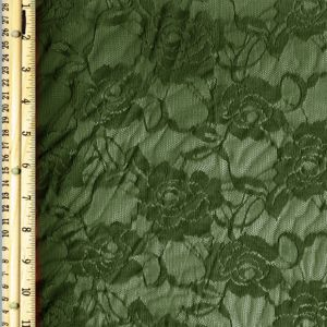 Olive Rose Floral Lace Fabric