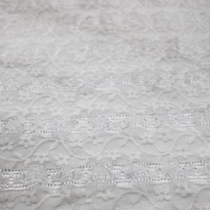 Ribbon Dancers Offwhite Stretch Lace Fabric