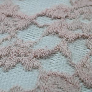 Pink Pale Hendrix Florals Pattern Lace Fabric