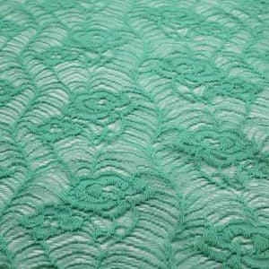 Seafoam Light Botanical Natural Cotton Lace Fabric - Grow