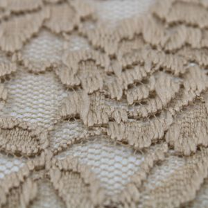 Stone S  Scallop Lace Fabric By the Yard - Adele