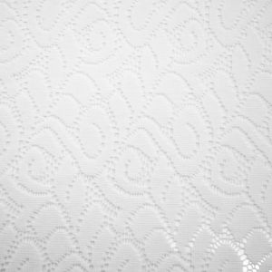 Off White Curly Lace Fabric