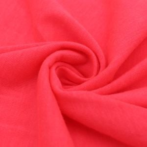 Coral Chic Neon Solid Poly Rayon Spandex 160 GSM Jersey Knit Fabric