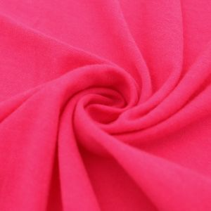 Fuchsia Neon Solid Poly Rayon Spandex 160 GSM Jersey Knit Fabric