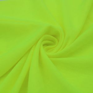 Lemon Neon Solid Poly Rayon Spandex 160 GSM Stretch Jersey Knit Fabric