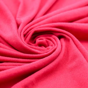 Red Solid Poly Rayon Spandex 160 GSM Light-Weight Stretch Jersey Knit Fabric