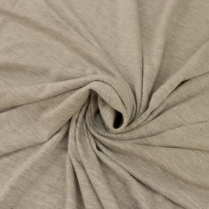 Light Heather Gray Ultra-Heavy Weight Rayon Spandex Jersey Knit Stretch Fabric