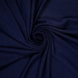 Navy Vibrant Ultra-Heavy Weight Rayon Spandex Jersey Knit Fabric