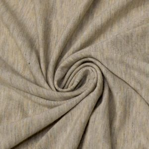 Light Oatmeal Ultra-Heavy Weight Rayon Spandex Jersey Knit Stretch Fabric