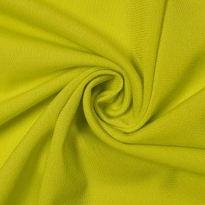 Green Chartreuse Neon ITY Stretch Jersey Knit Fabric Twist Yarns ITY - 200 GSM