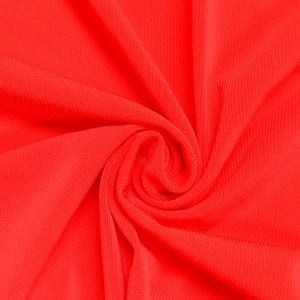 Hot Coral Neon ITY Stretch Jersey Knit Fabric Twist Yarns ITY - 200 GSM