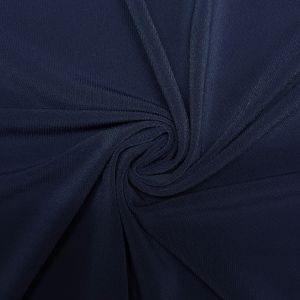 Navy Vibrant ITY Stretch Jersey Knit Fabric Twist Yarns ITY - 200 GSM