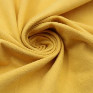 Yellow Cotton Spandex Jersey Knit Fabric Combed 10oz