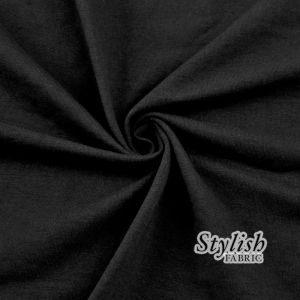 Black Cotton Spandex Jersey Knit Fabric Combed 10oz