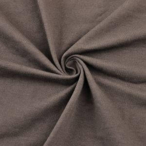 Taupe Dark Cotton Spandex Jersey Knit Fabric Combed 10oz