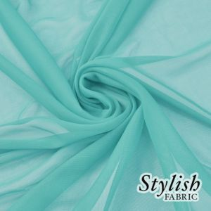Green Topaz Chiffon Matte Jersey Stretch Chiffon Fabric
