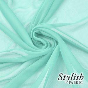 Seafoam Light Chiffon Matte Jersey Stretch Chiffon Fabric