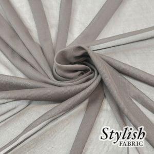 Taupe Dark Chiffon Matte Jersey Stretch Chiffon Fabric