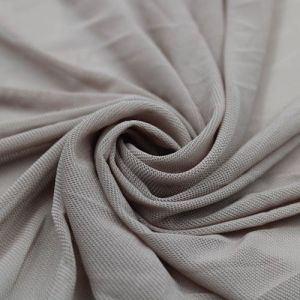 Taupe Stretch Power Mesh Fabric by the Yard