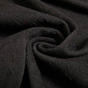 Black Jacquard Knit Stretch Jacquard Fabric Bejeweled Pattern