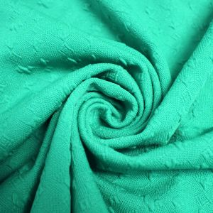 Green Mint Light Jacquard Knit Stretch Jacquard Fabric Bejeweled Pattern