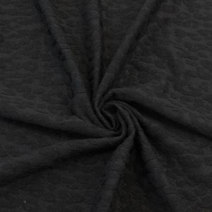Black on Black Leopard Jacquard Knit Jacquard Fabric